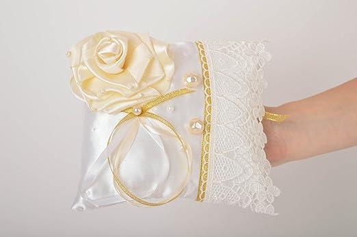 Cojin para alianzas de boda hecho a mano almohada para ...