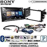 Volunteer Audio Sony XAV-W651BT Double Din Radio Install Kit with Bluetooth USB AUX Fits 2003-2005 Chevrolet Blazer, 2003-2006 Silverado, Suburban