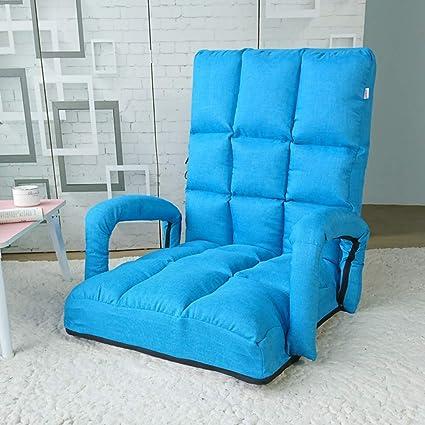 VIVOCC Silla Plegable Ajustable para Suelo, sofá Cama con reposabrazos, Almohada para Juegos,