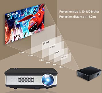 Pocket Projector, AODIN M8T Touch Panel Android Smart Projector ...