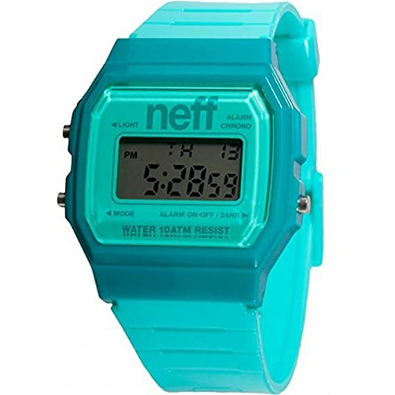 Neff Flava XL - Reloj para hombres color turquesa azul: Amazon.es: Relojes