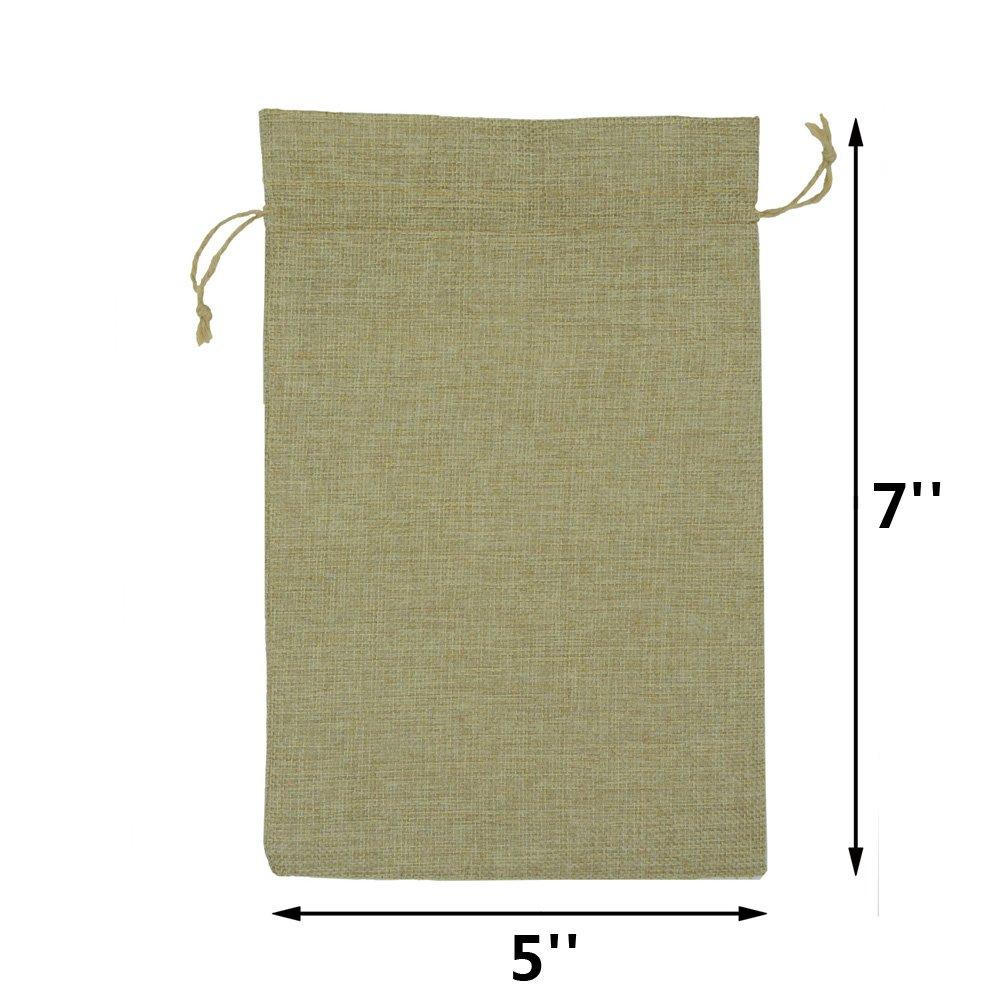 Amazon.com: YUKUNTANG 20 bolsas de arpillera, regalo de boda ...