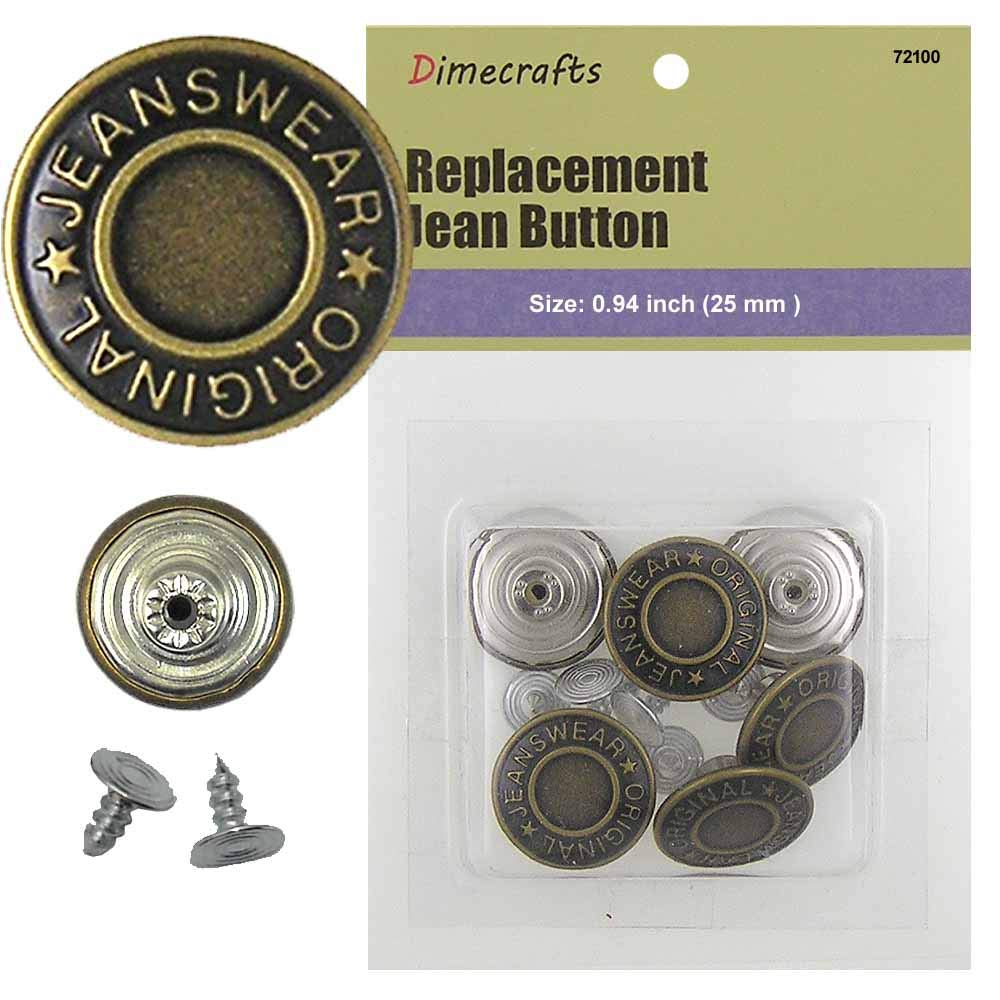 20 mm Replacement Jean Tack Buttons CT. 6 Unknown