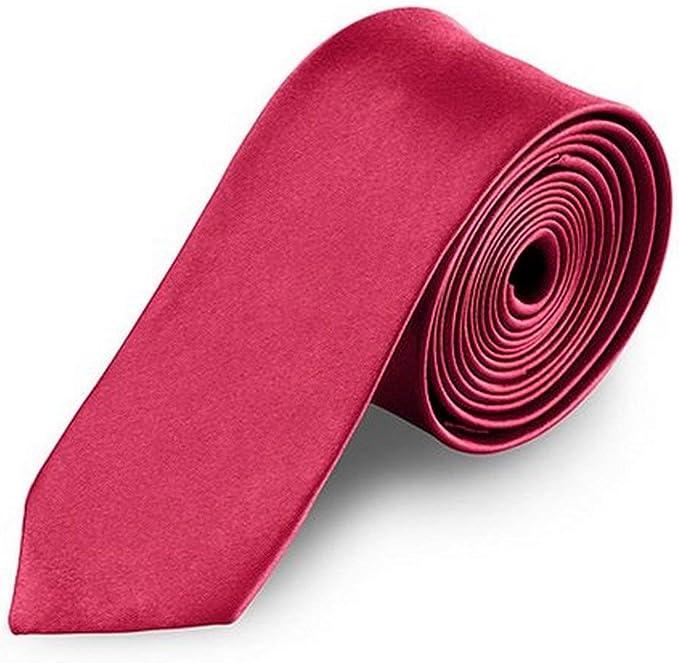 OM3 - Corbata - para hombre rojo blutrot talla única: Amazon.es ...