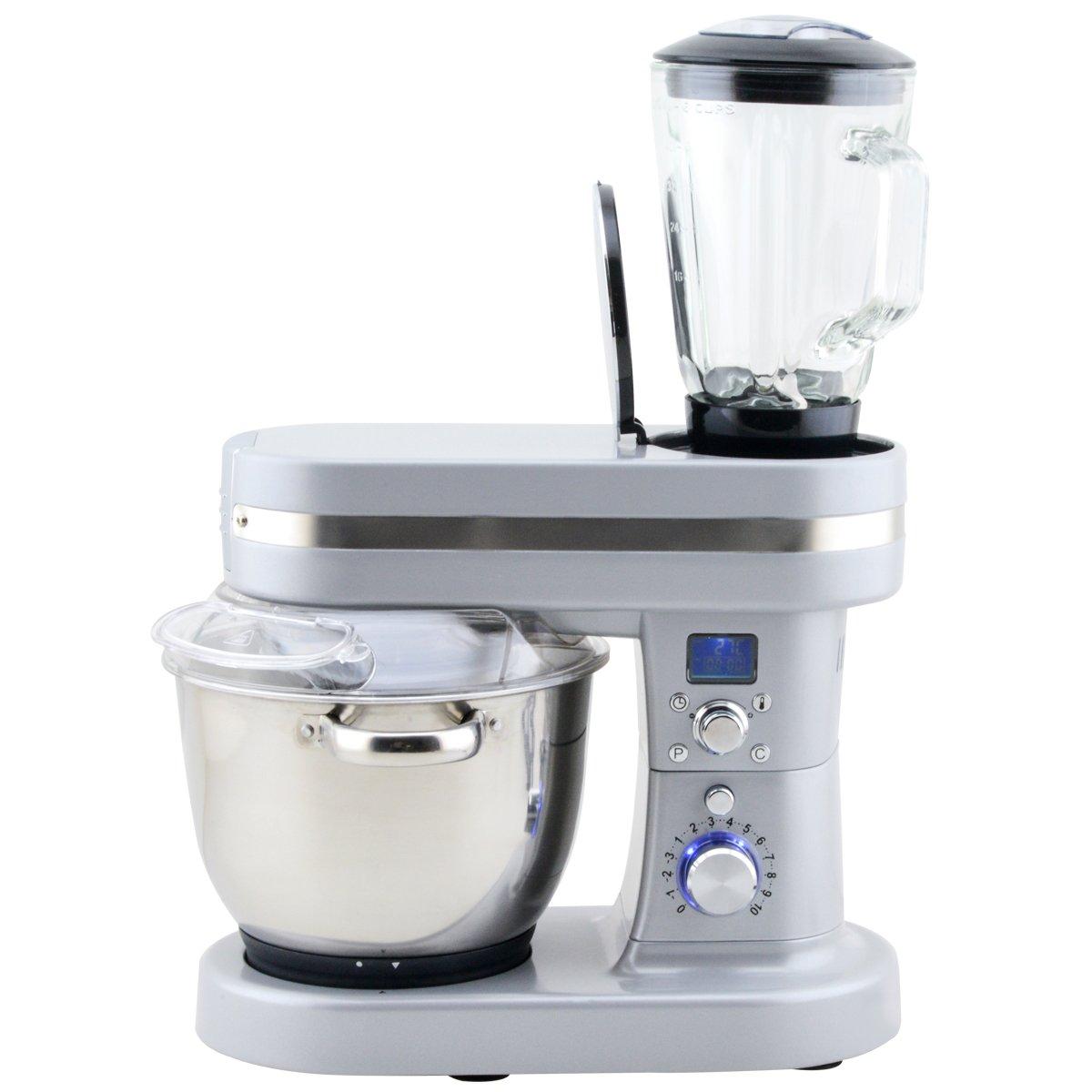 Amazon.de: H.Koenig KMC90 Küchenmaschine mit Kochfunktion / 3 Koch ...