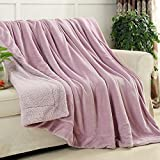 Znzbzt Female Single-bedroom winter air-solid color style hostel girl child with a blanket ,180x200cm, light purple