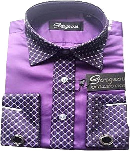 Gorgeous Collection Boys Special Occasion Wedding Smart Shirt Tie Cufflinks /& Handkerchief Set