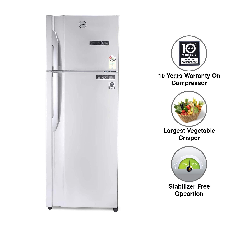 Godrej 350 L 2 Star Inverter Frost-Free Double Door Refrigerator – RT EONVIBE 366B 25 HCIT ST RH