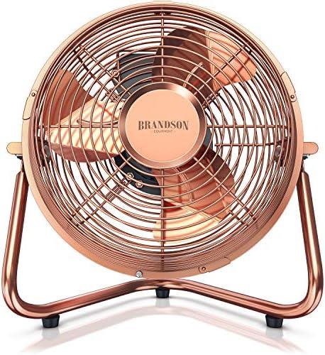 Ventiladores Vintage Brandson - Ventilador de Estilo Retro - máquina de Viento - Ventilador de Suelo 32 Watt - Ventilador de Mesa de Alto Flujo de Aire: Amazon.es: Hogar