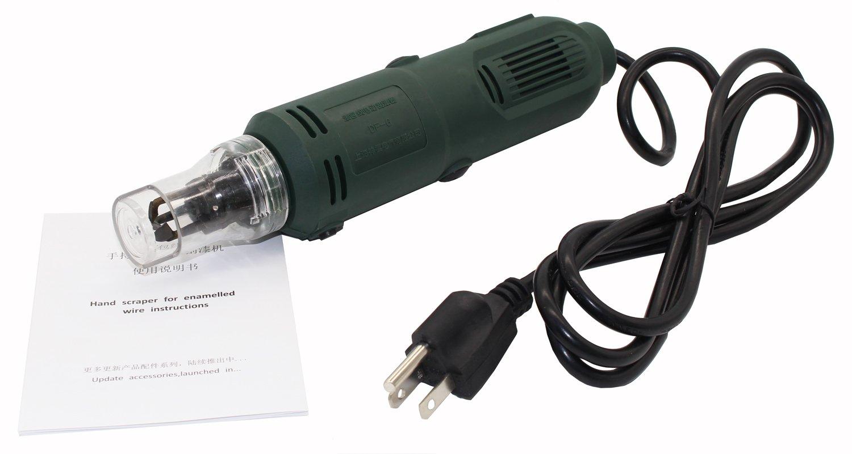 Handheld Magnet Wire Stripping Machine Wire Stripper Cutter Hand Scraper for Enamelled Wire 10000 r/min 110V