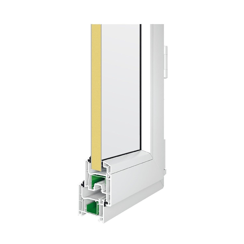 Innen/öffnend DIN Rechts 100 x 230 cm wei/ß 2-fach-Verglasung verschiedene Ma/ße Nebeneingangst/ür mit Dr/ückergarnitur