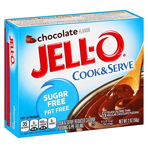 (JELL-O Chocolate Sugar Free Cook & Serve Pudding & Pie Filling Mix (2 oz Boxes, Pack of 6))