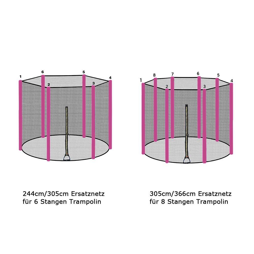 ULTRAPOWER SPORTS Filet de S/écurit/é et Coussin de Protection de Ressorts pour Trampoline avec Diam/ètre 245cm 305cm 366cm 397cm 6//8 Barres