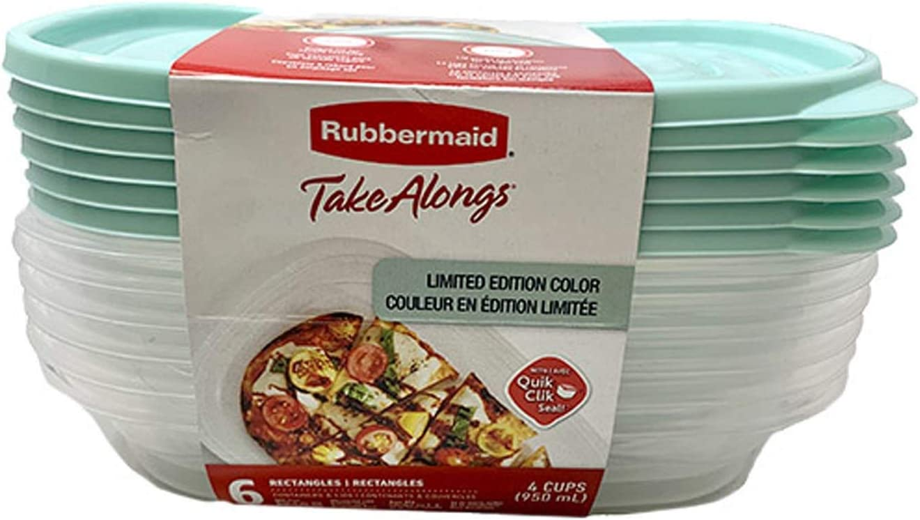 Limited Edition TakeAlongs Food Storage Container, 4-Cup Rectangle, Teal