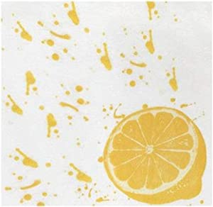 Vietri Papersoft Napkins Lemon Cocktail Napkins (Pack of 20) - Decorative and Eco-Friendly Party Supplies