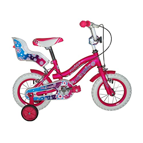 Tiger Princess Cadre en acier pour vélo–Rose/Blanc (Roue 40,6cm)