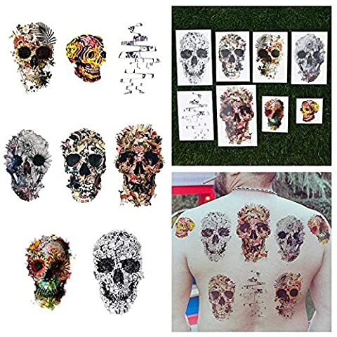 Tattify Various Skull Temporary Tattoos - Putting Our Heads Together