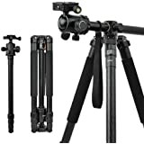 Camera Tripod & Monopod for DSLR, 62'' Professional Horizontal Arm Tripod with 360° Rotatable Metal Ball Head, 4…