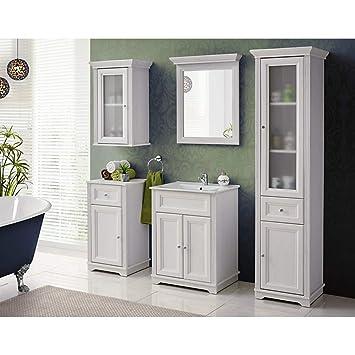 Lomadox Landhaus Badezimmer Möbel Set 5-teilig ○ Andersen Pine weiß ...