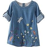 d6c24a498d4 Amlaiworld ❤️Robe de Filles Vêtements pour Bébés Filles Robe de Broderie de  Fleur Robes de