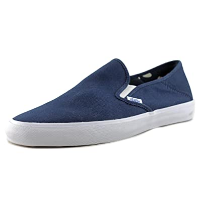 Vans Slip-On SF Mens Blue Canvas Sneakers Slip On Shoes 7