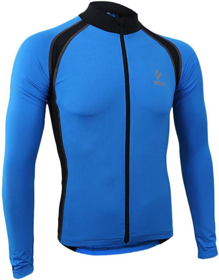 emansmoer hombre transpirable Outdoor Sport/ /Chaqueta de ciclismo equitaci/ón bicicleta Jersey manga larga el/ástica Slim Tops