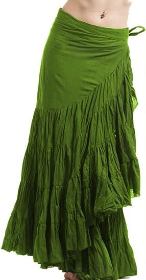 Falda para envolver, falda de flamenco, falda de gitana, falda gecko ...