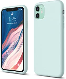 elago Silicone Case Compatible with iPhone 11 (Mint Green) - Premium Liquid Silicone, Raised Lip (Screen & Camera Protection), 3 Layer Structure, Full Body Protection