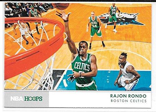 (Rajon Rondo 2012-13 NBA Hoops Action Photos Boston Celtics Insert Card #16)