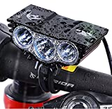 Cheap Nestling 3000Lm U2 XML CREE LED Mountain Cycle lights Front Bike lights Bicycle Light Headlamp Torch Headlight Rechargable Head Lights Flashlight 4×18650 Battery Rear Light (X3 Black)