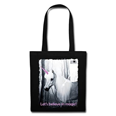 8ffa14fd56c6 Spreadshirt Animal Planet Unicorn Believe In Magic Tote Bag
