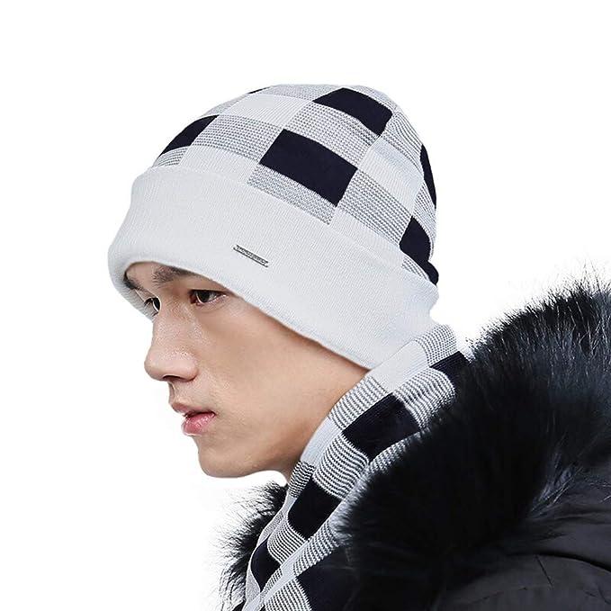 XZDXR Sombrero de invierno de lana gruesa sombrero otoño e invierno ...