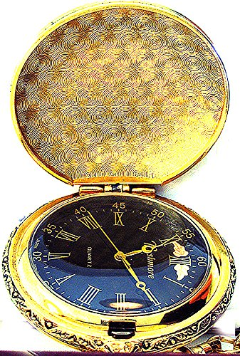 Black Hills Gold Men's Black Face Pocket Watch (Face Pocket Watch Timepiece)
