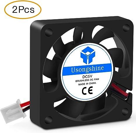 UsongShine 2pcs pour imprimante 3D Ventilateur de Refroidissement 4010 mm avec Dupont 2Pin Fil Multiple Options de Refroidissement DC 5 12V