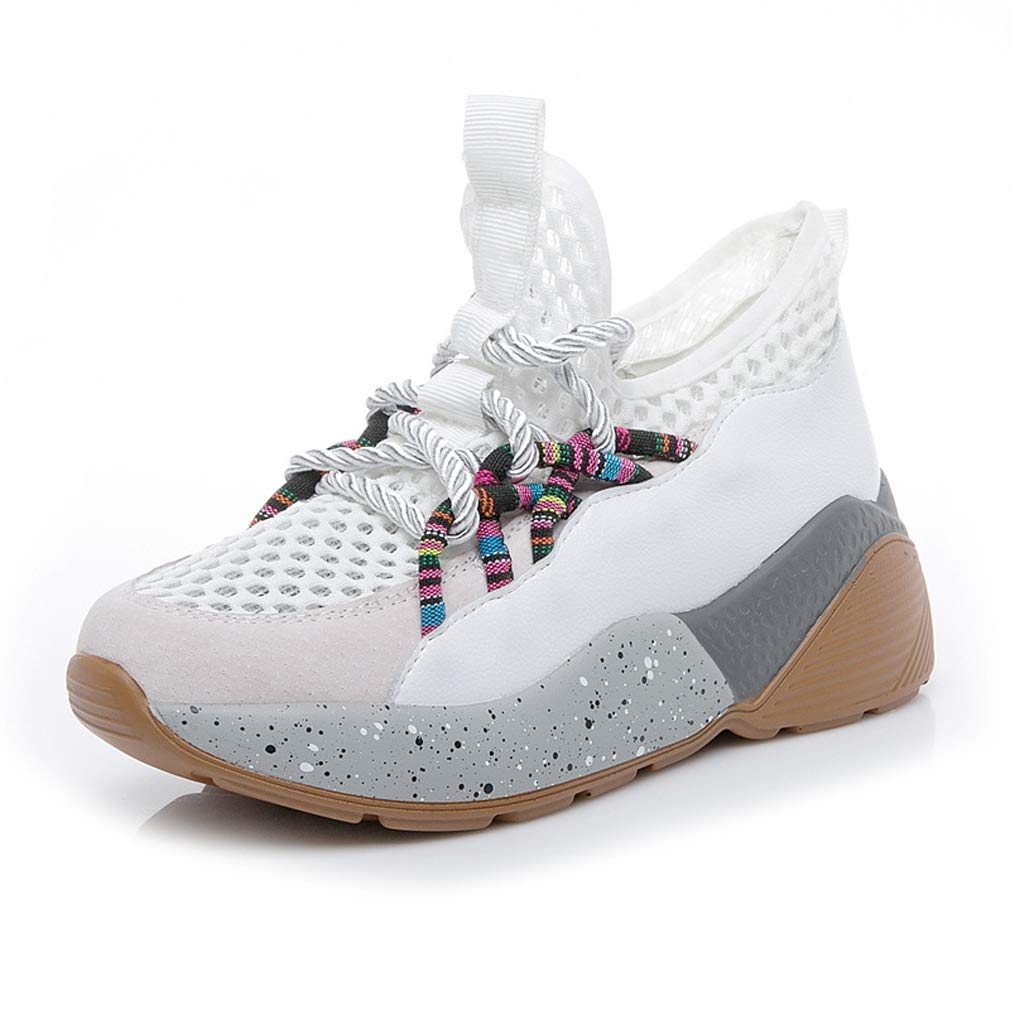 GoldGOD Joker Platform Sportschuhe Ins Schuhe Student Freizeitschuhe Atmungsaktiv Weiß 38UK