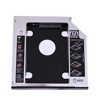 YouN SATA 2nd HDD SSD Hard Drive Caddy for 12.7mm Universal CD/DVD ...
