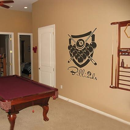Amazon.com: Billiard Wall Decal Billiard Room Sticker Sport Wall ...