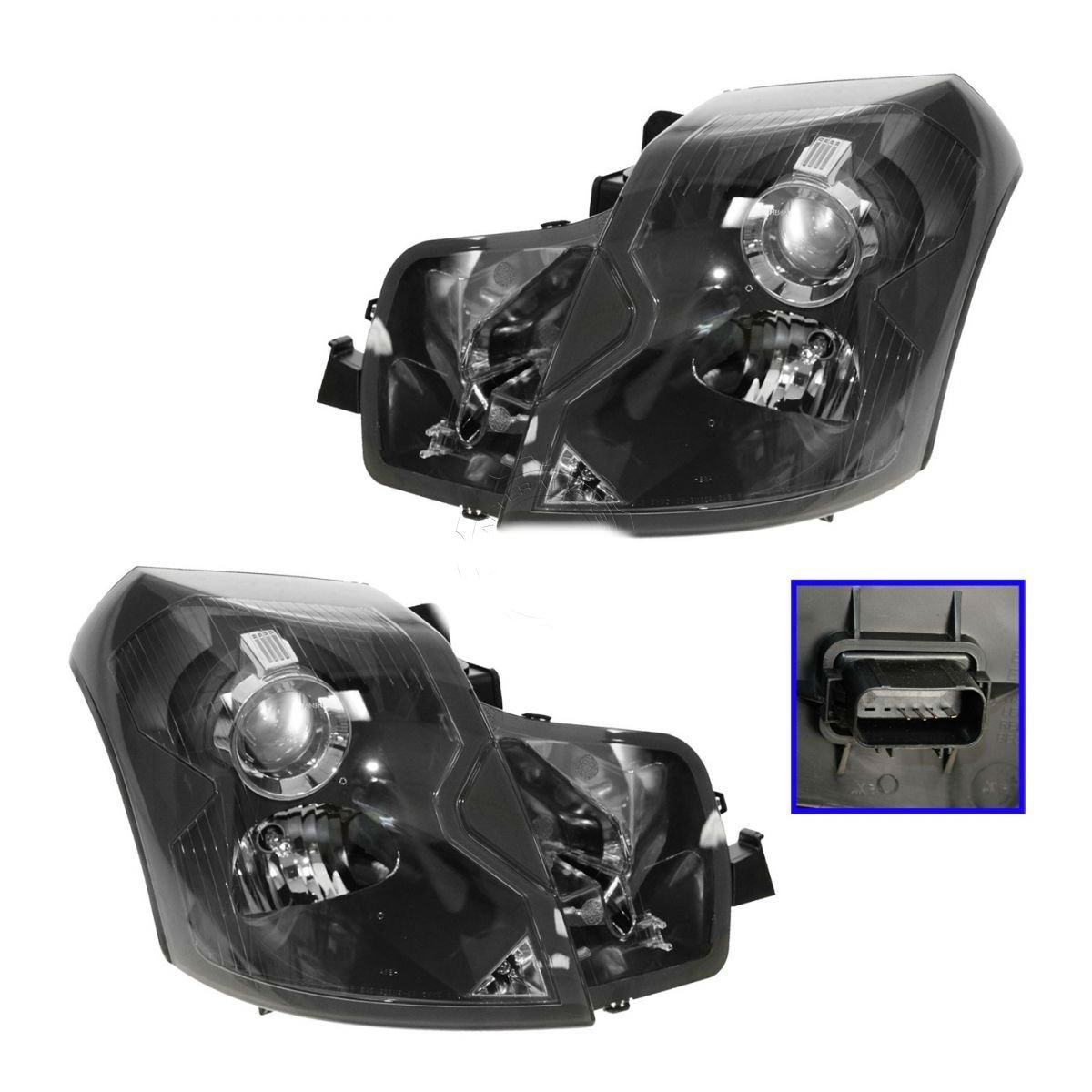 Headlights Headlamps Left & Right Pair Set NEW for 03-07 Cadillac CTS by Aftermarket