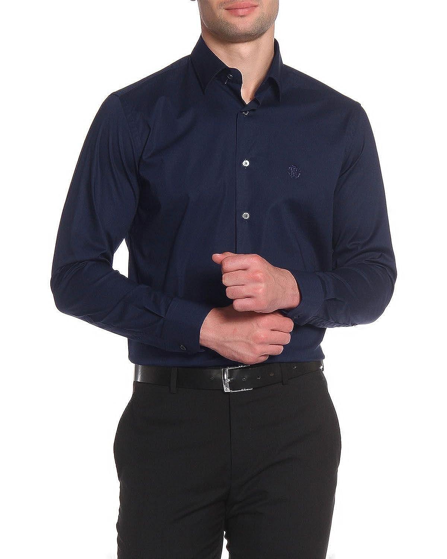 TALLA 41. Roberto Cavalli - Camisa Slim Fit para Hombre FSR705