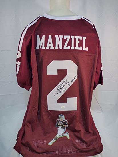 21cb6010aa6 Image Unavailable. Image not available for. Color  Signed Johnny Manziel  Jersey - Custom Photo Inscribed - JSA Certified - Autographed College  Jerseys