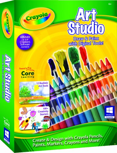 Cd Rom Kids Game Pc - Crayola Art Studio