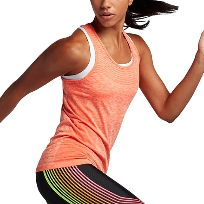 fd2b8f152aea00 Amazon.com  Nike Women s Dri-FIT Knit Running Tank Top (X-Large ...