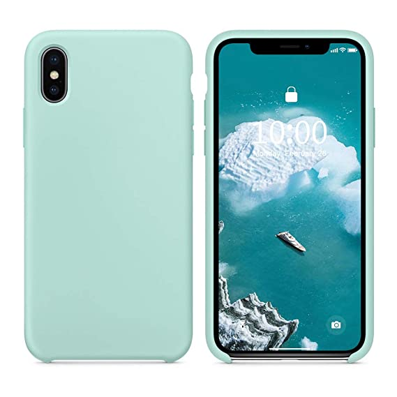 more photos 4b58d 78aef SURPHY Silicone Case for iPhone Xs iPhone X Case, Slim Liquid Silicone Soft  Rubber Protective Phone Case Cover (with Soft Microfiber Lining) ...