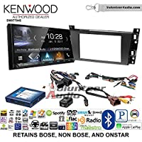 Volunteer Audio Kenwood DMX7704S Double Din Radio Install Kit with Apple CarPlay Android Auto Bluetooth Fits 2006-2010 Cadillac DTS