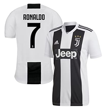 innovative design 7114e 296f0 Amazon.com : adidas Juventus Home Ronaldo 7 Jersey 2018/2019 ...