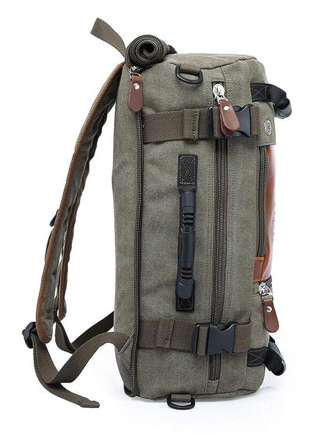 Itenqi Men Travel Backpack Canvas Rucksack Retro leisure version large capacity shoulder bag multi function backpack