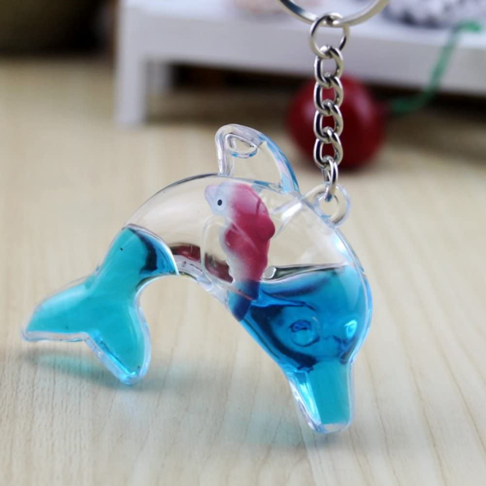 TOYMYTOY 6 Pcs Dolphin Keychain Floating Key Ring Toy Purse Pendant Handbag Decoration
