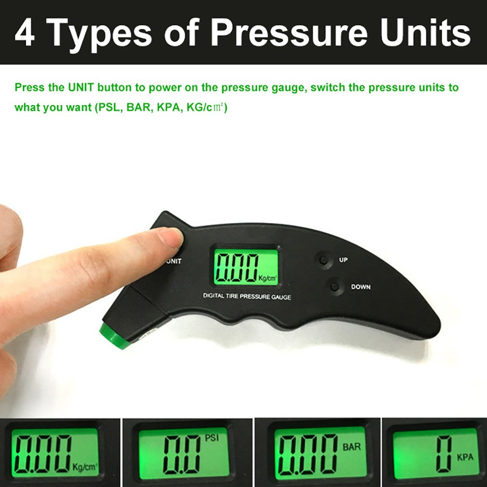 Silver Black Grebest Tyre Pressure Gauge Other Vehicle Parts Tyre Pressure Monitor Analog Pointer Auto Car Tyre Air Pressure Gauge Tester Indicator Monitor System
