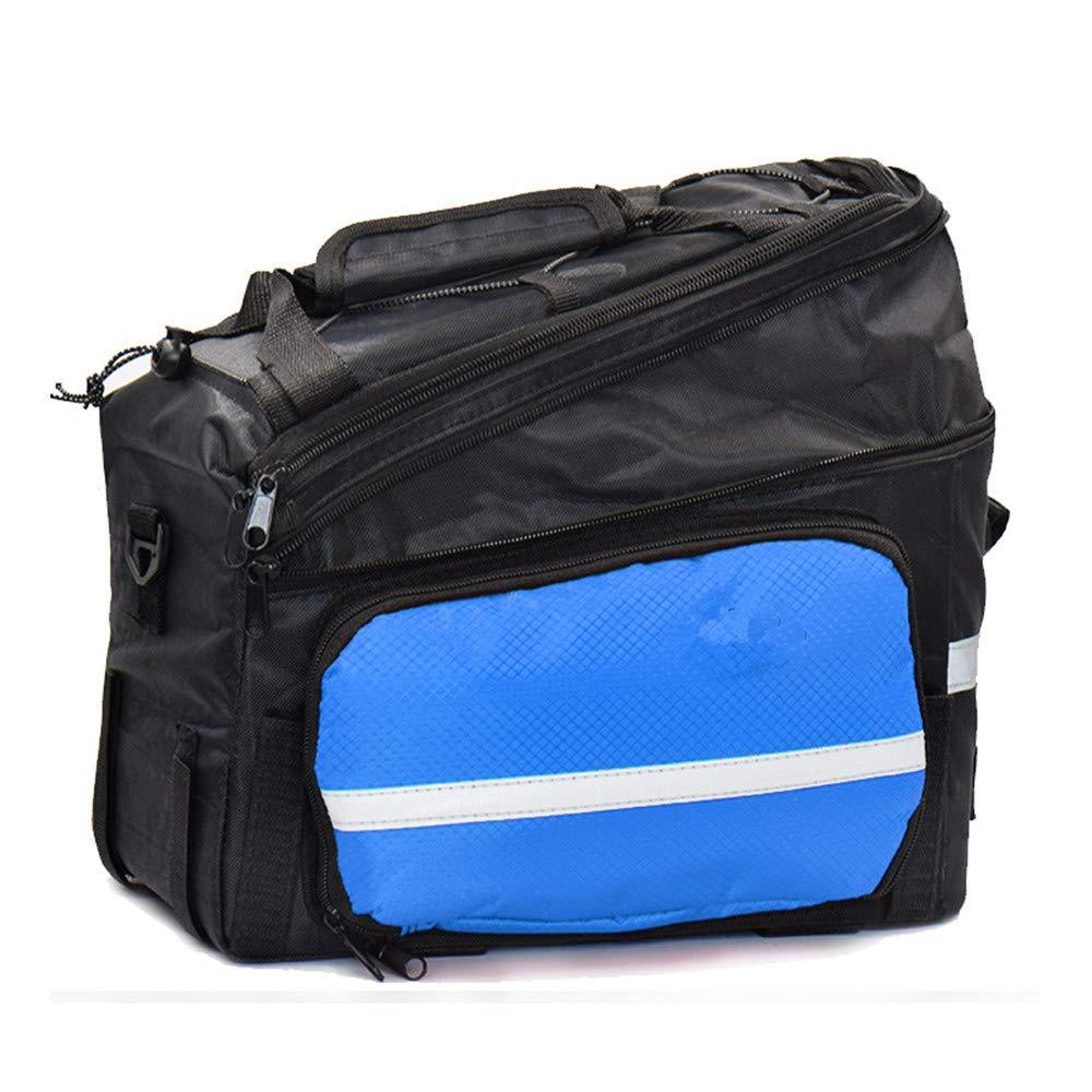 Sunbobo Bike Pannier Trunk Bag, große Kapazität wasserdicht Fahrrad Rear Seat Pannier Fit für Radfahren Aufbewahrungstasche (Farbe : Blau)