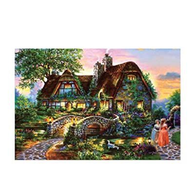 Jigsaw Puzzle - Country Landscape - Challenge Picture Puzzle Intelligent Toy Brain Game - Gift for Kids/Adults/Seniors: Arts, Crafts & Sewing